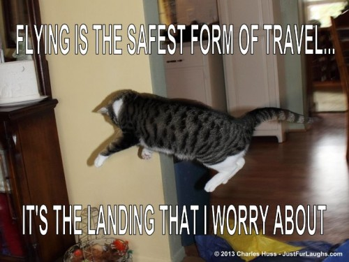Flying is the safest form of travel